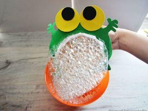 Мастерим лягушонка, запускающего мыльные пузыри. Ярмарка Мастеров - ручная работа, handmade.
