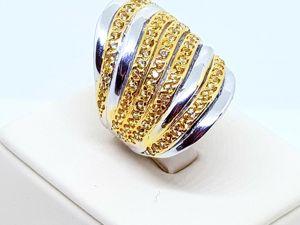 Новинка! Видео кольца с натуральными желтыми сапфирами Сонгеа!. Ярмарка Мастеров - ручная работа, handmade.