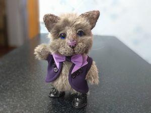 Котик коток — серенький бочок Дым -дымыч. Ярмарка Мастеров - ручная работа, handmade.