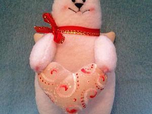 Мастер-класс: шьём кота-ангела на День всех влюбленных. Ярмарка Мастеров - ручная работа, handmade.