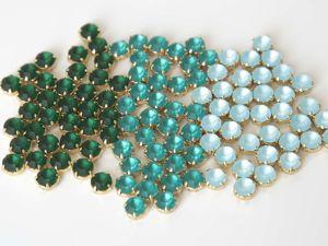 Новинки в Foxy Beads — Матовые шатончки 8 мм в оправах. Ярмарка Мастеров - ручная работа, handmade.