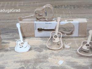 Гитара. Выпиливаю лобзиком 3д поделку. Ярмарка Мастеров - ручная работа, handmade.