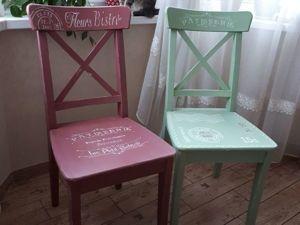 Декорируем стулья с помощью краски и трафаретов. Ярмарка Мастеров - ручная работа, handmade.