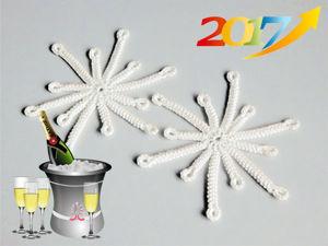 Вяжем крючком снежинку. Ярмарка Мастеров - ручная работа, handmade.