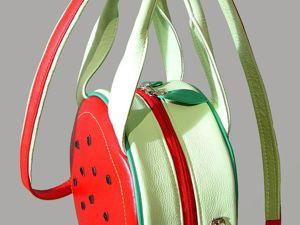 Процесс изготовления сумочки  «Арбуз». Ярмарка Мастеров - ручная работа, handmade.