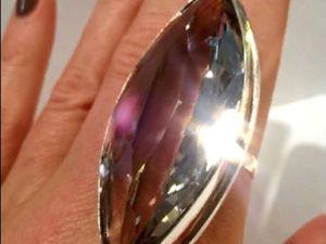 Видео кольца«Maleficenta»раухтопаз,серебро 925 ручная работа. Ярмарка Мастеров - ручная работа, handmade.