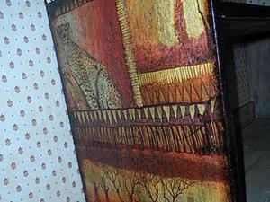 Декор полочки «Африканские мотивы». Ярмарка Мастеров - ручная работа, handmade.