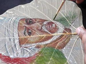 Шедевры на хрупких листьях Сандеша С. Рангнекара. Ярмарка Мастеров - ручная работа, handmade.