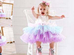 Шьем нарядное платье для девочки с ярусной юбкой из фатина. Ярмарка Мастеров - ручная работа, handmade.