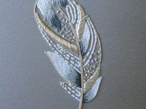 Подборка перьев, вышитых в люневильской технике. Ярмарка Мастеров - ручная работа, handmade.
