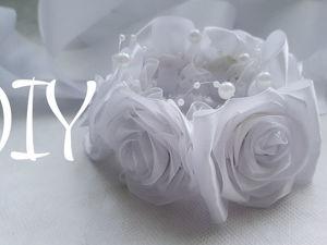 Нежная резинка на пучок с розами своими руками. Ярмарка Мастеров - ручная работа, handmade.