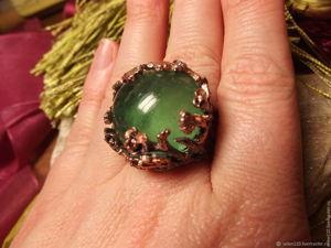 Видео Кольцо  «Изумрудный остров» с крупным зеленым флюоритом. Ярмарка Мастеров - ручная работа, handmade.