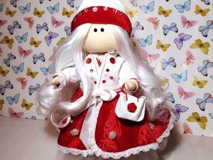 Кукла Тильда в красном цвете. Ярмарка Мастеров - ручная работа, handmade.