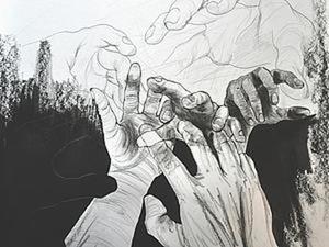 """Рисуем картину для интерьера """"Руки"""". Ярмарка Мастеров - ручная работа, handmade."""