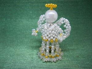 Плетем ангела из бусин к Рождеству Христову. Ярмарка Мастеров - ручная работа, handmade.