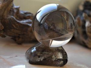 Роскошный большой шар из волынского дымчатого кварца. Ярмарка Мастеров - ручная работа, handmade.