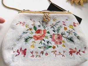 Вышитая винтажная сумочка-кошелек из Парижа. Ярмарка Мастеров - ручная работа, handmade.