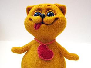 Мастер-класс: кот Валентин в технике сухого валяния. Ярмарка Мастеров - ручная работа, handmade.