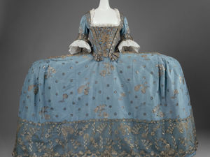 Exquisite Beatings Embroidery on Robe a la Francaise, 1750, Great Britain. Livemaster - handmade