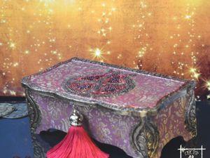 Шкатулка для хранения денег  «Гранат-символ Богатства». Ярмарка Мастеров - ручная работа, handmade.
