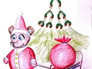 Зимние сережки-ёлочки. Ярмарка Мастеров - ручная работа, handmade.