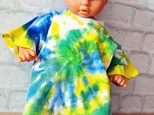Окрашивание батиком детской футболки. Ярмарка Мастеров - ручная работа, handmade.