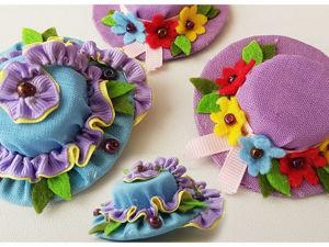 Видеоурок: легкие в изготовлении мини-шляпки — заколки для волос. Ярмарка Мастеров - ручная работа, handmade.