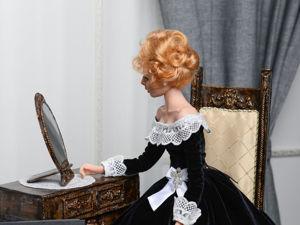 Портретная будуарная кукла Анжелика. Ярмарка Мастеров - ручная работа, handmade.