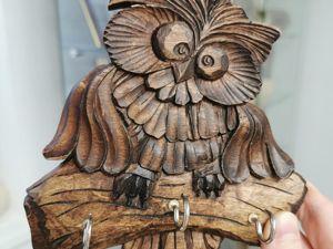 Ключница  «Совенок». Ярмарка Мастеров - ручная работа, handmade.