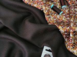 Люксовая костюмная ткань + шелк. Ярмарка Мастеров - ручная работа, handmade.