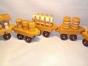 Большой деревянный поезд уже в продаже!. Ярмарка Мастеров - ручная работа, handmade.