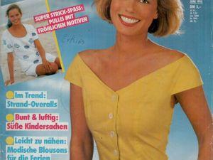 Neue mode 6 1990 (июнь). Ярмарка Мастеров - ручная работа, handmade.