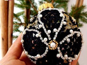 Елочный стеклянный шар Золотой. Ярмарка Мастеров - ручная работа, handmade.