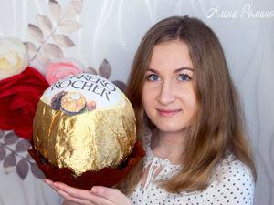 Видео мастер-класс: гигантская конфета Ферреро Роше своими руками. Ярмарка Мастеров - ручная работа, handmade.