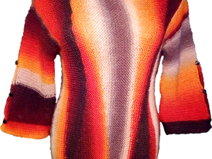 Вяжем тунику спицами. Ярмарка Мастеров - ручная работа, handmade.