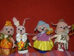 """Вяжем украшение для пасхальных яиц """"Зайка"""". Ярмарка Мастеров - ручная работа, handmade."""