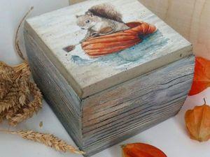 Декорируем шкатулку «Путешествие в тыкве». Ярмарка Мастеров - ручная работа, handmade.