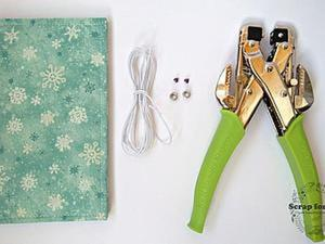Как закрепить резинку на обложку блокнота с помощью люверсов. Ярмарка Мастеров - ручная работа, handmade.