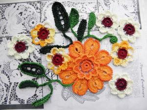 Вяжем крючком яркий цветок. Ярмарка Мастеров - ручная работа, handmade.