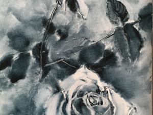 История одной картины.  «Розы индиго». Ярмарка Мастеров - ручная работа, handmade.