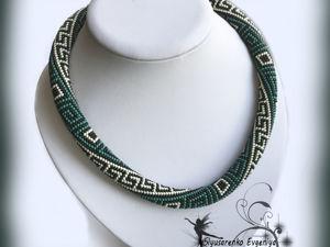 Жгут-колье  «Сиртаки»  украшение на шею ожерелье. Ярмарка Мастеров - ручная работа, handmade.