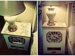 Прикроватный столик из настенных часов. Ярмарка Мастеров - ручная работа, handmade.
