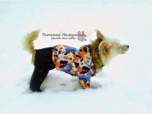 Шьем зимний костюм для собаки. Часть1. Штанишки. Ярмарка Мастеров - ручная работа, handmade.