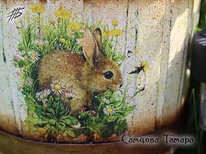 Создание кашпо «Заячья полянка». Ярмарка Мастеров - ручная работа, handmade.