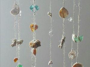 Создаем мобиль — музыка ветра из ракушек «Дары моря». Ярмарка Мастеров - ручная работа, handmade.