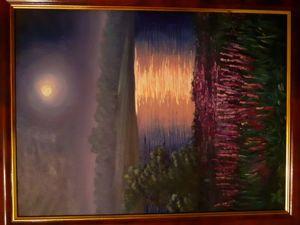 Автор Надежда Щипская, моя мама, написано к картине с люпинами. Ярмарка Мастеров - ручная работа, handmade.