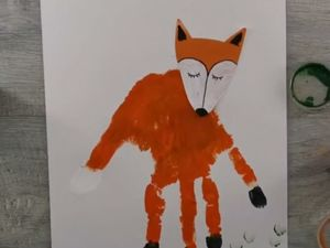 Как нарисовать лису ладошками?. Ярмарка Мастеров - ручная работа, handmade.