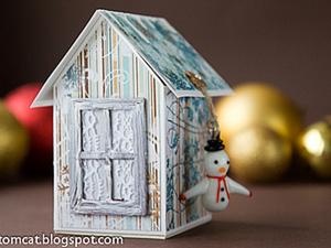 Новогодний домик-шкатулка. Ярмарка Мастеров - ручная работа, handmade.