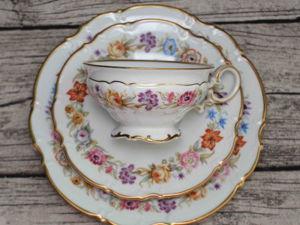 «Цветочные хороводы»  Очаровательная чайная тройка от Hutschenreuther, Германия. Ярмарка Мастеров - ручная работа, handmade.