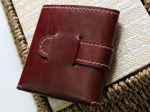 Изготовление кошелька из натуральной кожи. Ярмарка Мастеров - ручная работа, handmade.